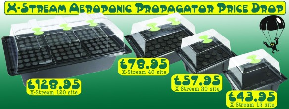 X Stream Aeroponics Propagator.  We have a full range from 12 cuttings to 120.